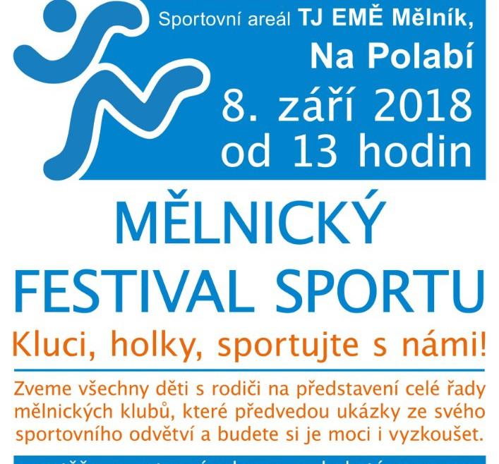 Mělnický festival sportu 2018